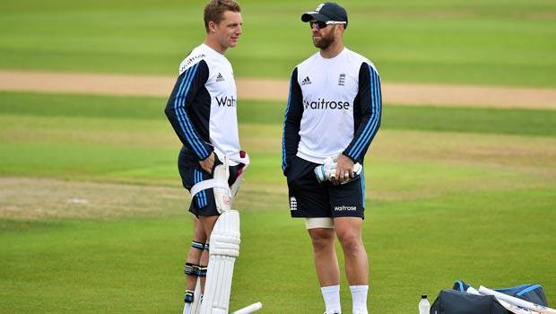 Jos Buttler and Matt Prio England First Investec Test Match