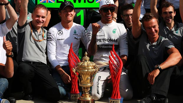 Lewis Hamilton winning 2014 British Grand Prix