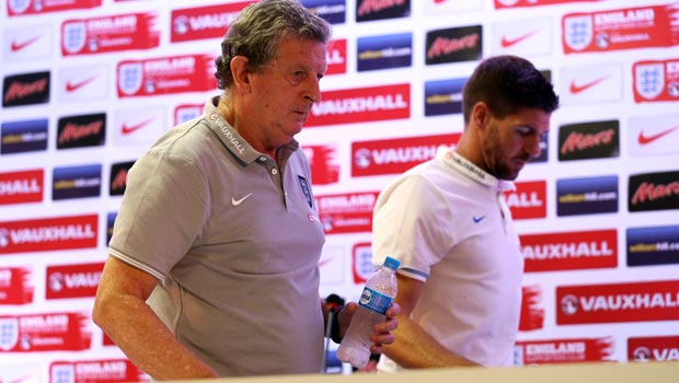Steven Gerrard and Roy Hodgson England