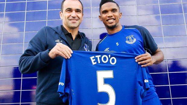 Evertons new signing Samuel Eto'o