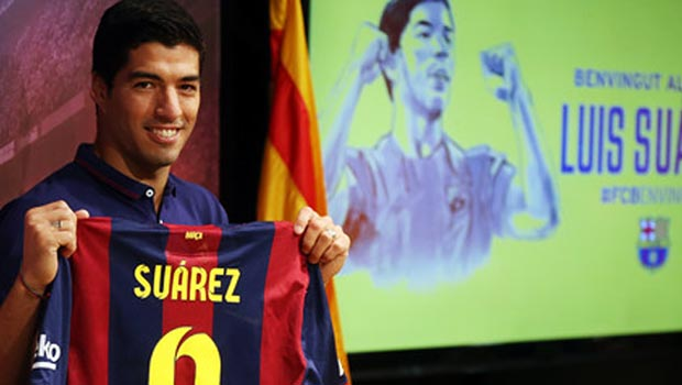 Luis Suarez New Barcelona forward