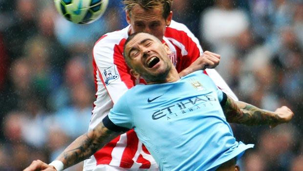 Edin Dzeko Manchester City v Stoke City