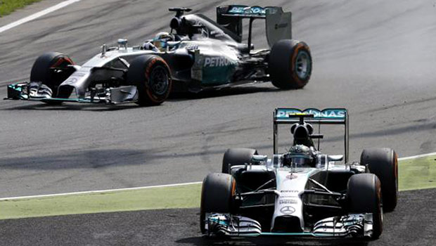Lewis Hamilton and Nico Rosberg Mercedes