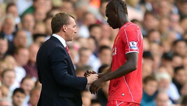 Liverpool Brendan Rodgers and Mario Balotelli