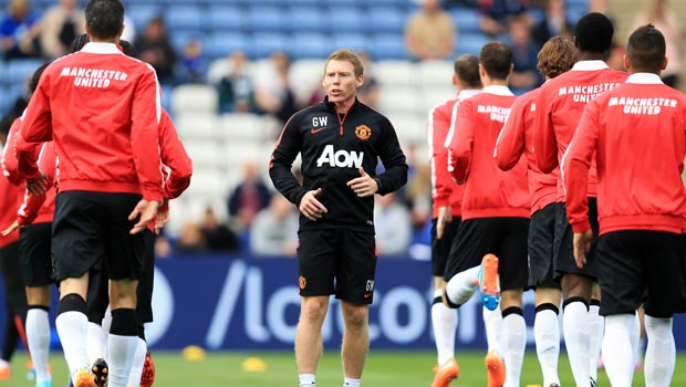 Manchester United Players and coach Gary Walker
