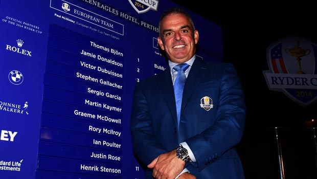 Paul McGinley Europe Ryder Cup captain