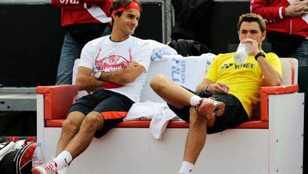 Roger Federer and Stan Wawrinka ahead of Davis Cup