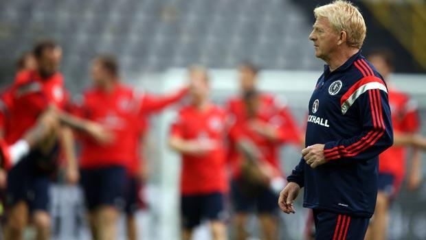 Gordon Strachan Scotlands manager