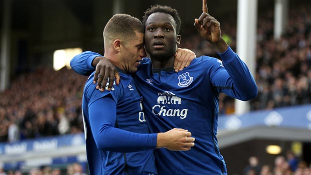 Romelu Lukaku and Ross Barkley Everton
