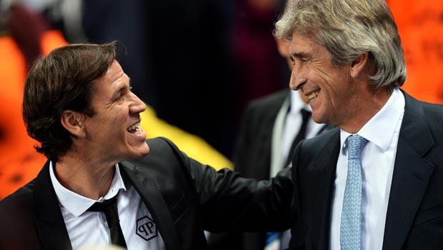 Rudi Garcia and Manuel Pellegrini