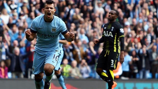 Sergio Aguero Manchester City v Tottenham Hotspur