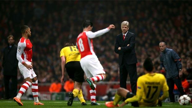 Arsene Wenger Arsenal v Borussia Dortmund Champions League