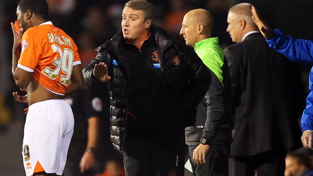 Blackpool manager Lee Clark