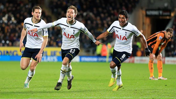 Christian Eriksen Tottenham Hotspur v Hull City