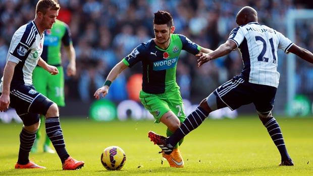Remy Cabella Newcastle United v West Bromwich Albion