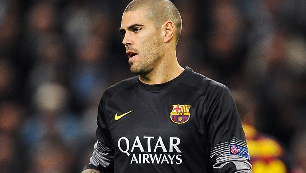 Victor Valdes, Barcelona goalkeeper