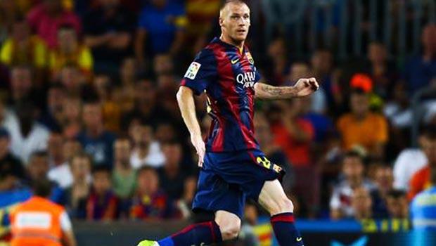 Barcelona defender Jeremy Mathieu