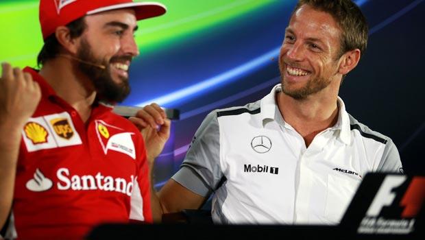 Fernando Alonso and McLarens Jenson Button
