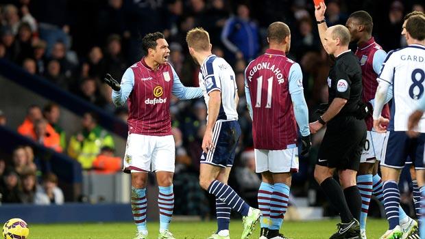 Kieran Richardson Aston Villa v West Bromwich Albion Premier League