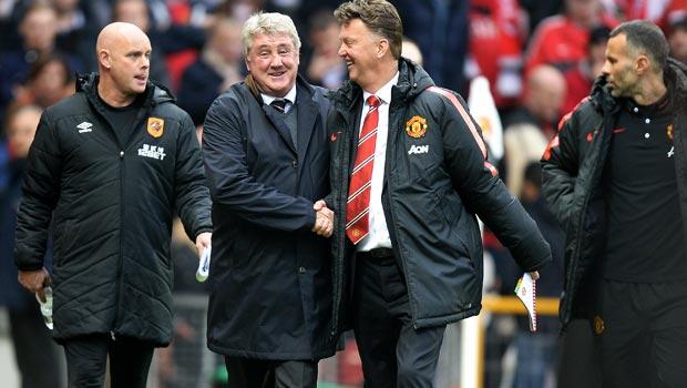 Man United Louis van Gaal and Hull City Steve Bruce