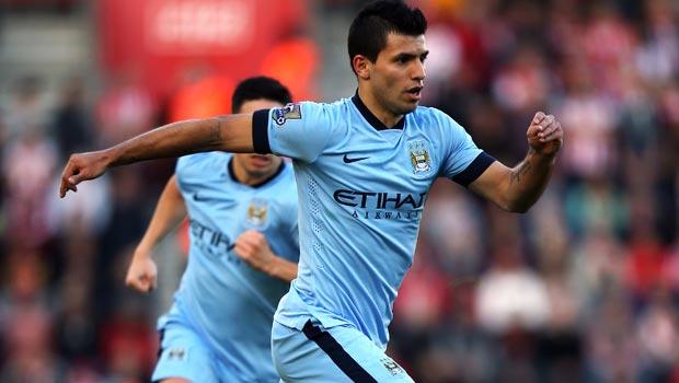 Manchester City star striker Sergio Aguero