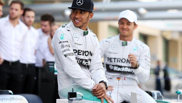 Mercedes Nico Rosberg and Lewis Hamilton