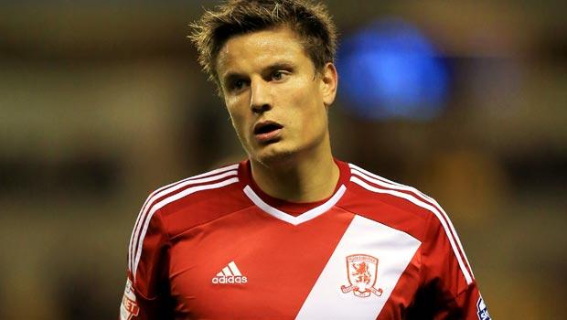 Middlesbrough striker Jelle Vossen