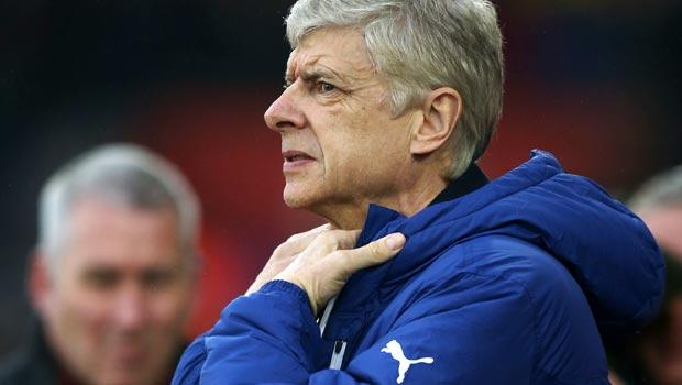 Arsene Wenger Arsenal v Stoke City