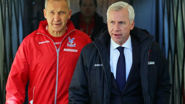 Crystal Palace Manager Alan Pardew and Keith Millen