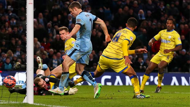 James Milner Manchester City v Sheffield Wednesday