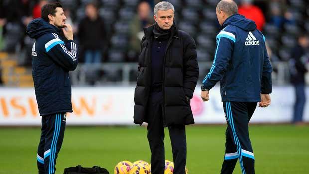 Jose Mourinho Chelsea v Swansea City
