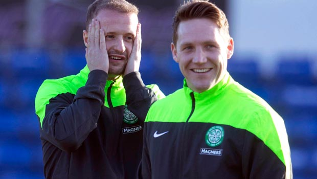 Kris Commons and Leigh Griffiths Celtic