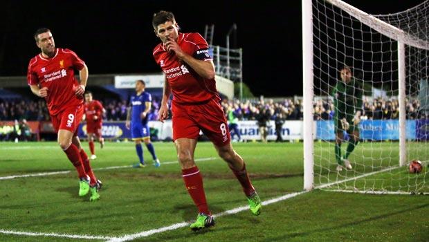Liverpool captain Steven Gerrard FA Cup