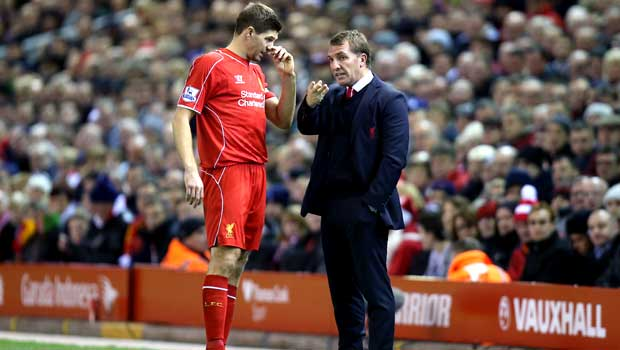 Liverpool manager Brendan Rodgers and Steven Gerrard