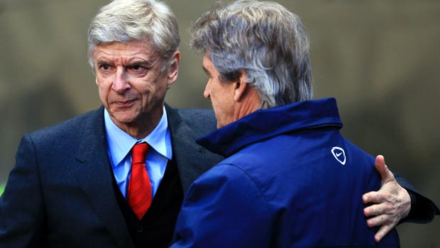 Man City 0-2  Arsenal Arsene Wenger