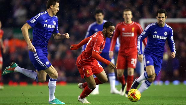 Raheem Sterling Liverpool v Chelsea Capital One Cup