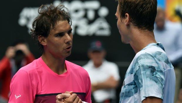 Tomas Berdych and Rafael Nadal Australian Open