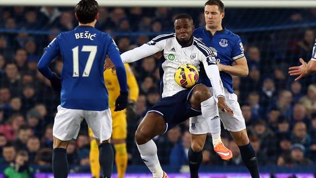 West Brom striker Victor Anichebe