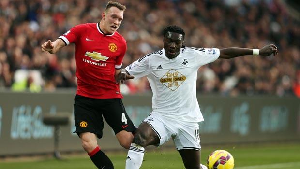 Man United Phil Jones and Swansea Bafetimbi Gomis