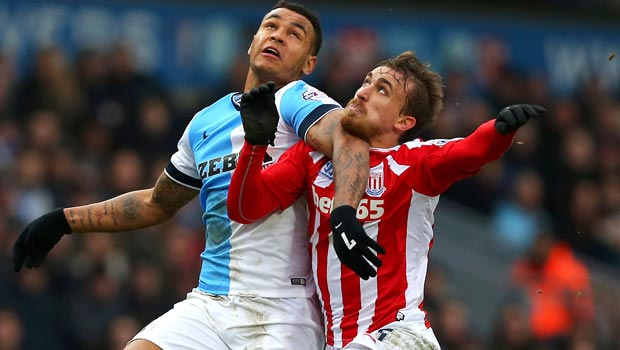 Marc Muniesa Stoke City v Blackburn Rovers FA Cup Fifth Round