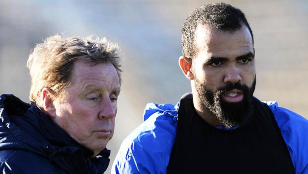 QPR midfielder Sandro with Harry Redknapp