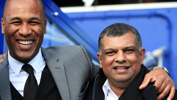 Queens Park Rangers Les Ferdinand and Tony Fernandes