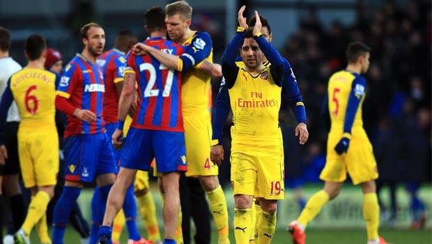 Santi Cazorla Arsenal 2-1 Crystal Palace