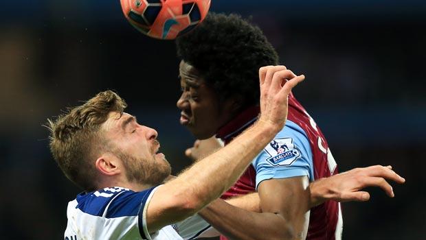 Aston Villa Carlos Sanchez and West Bromwich Albion James Morrison