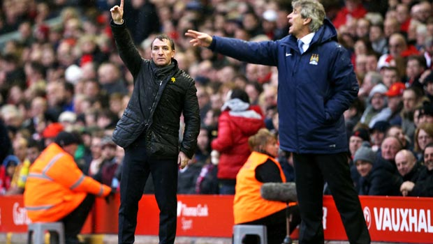 Brendan Rodgers Liverpool v Manchester City