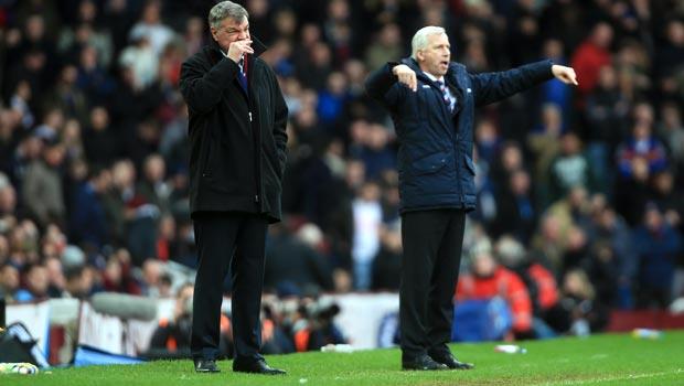 Crystal Palace Alan Pardew and West Ham United Sam Allardyce