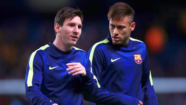 Lionel Messi and Neymar Barcelona
