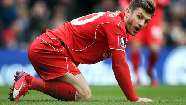 Liverpool Adam Lallana injury