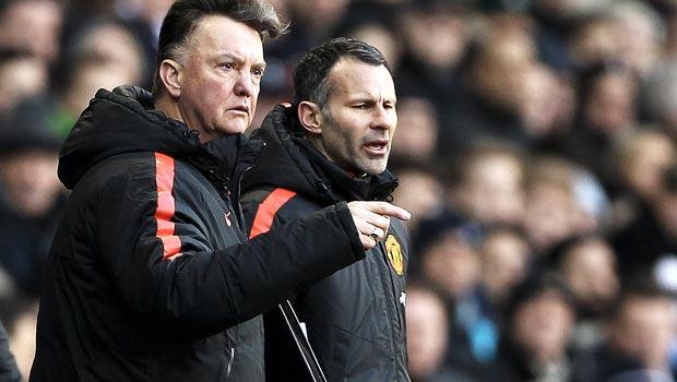 Manchester United Louis van Gaal and Ryan Giggs