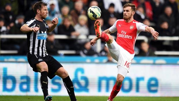 Newcastle United v Arsenal Aaron Ramsey